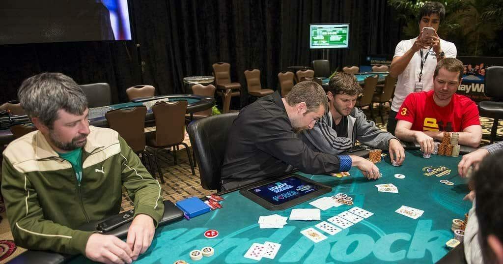 La table finale d'un tournoi, le Graal de tout joueur.